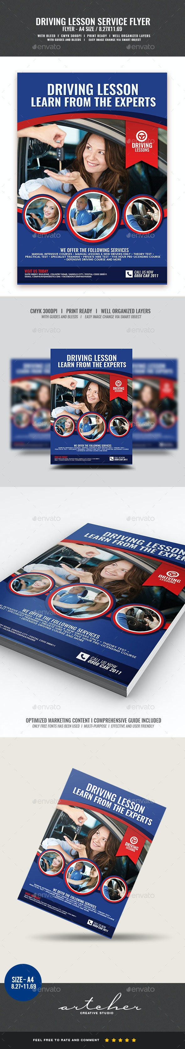 Driving Lesson Services Flyer - Corporate Flyers