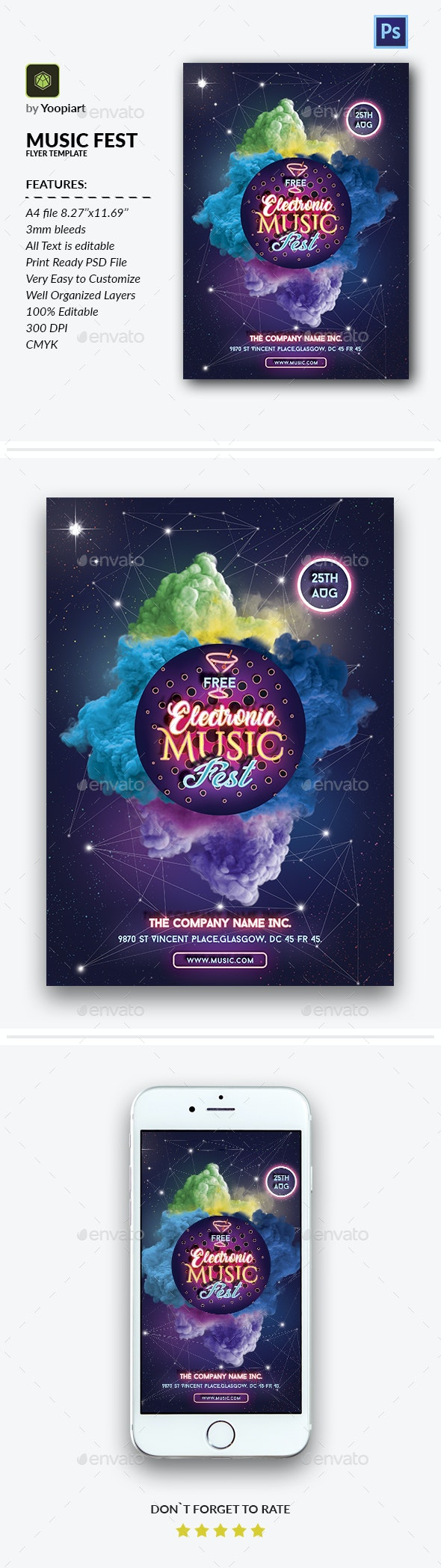 Music Fest Flyer Template - Events Flyers