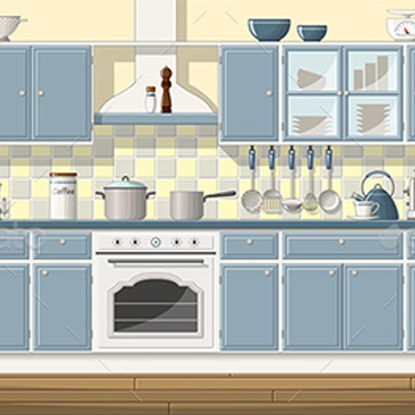 Illustration of a Classic Kitchen