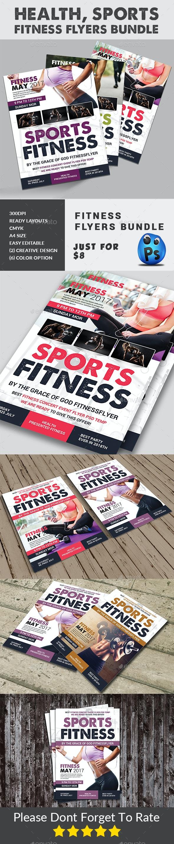 Fitness Flyers Bundle - Corporate Flyers