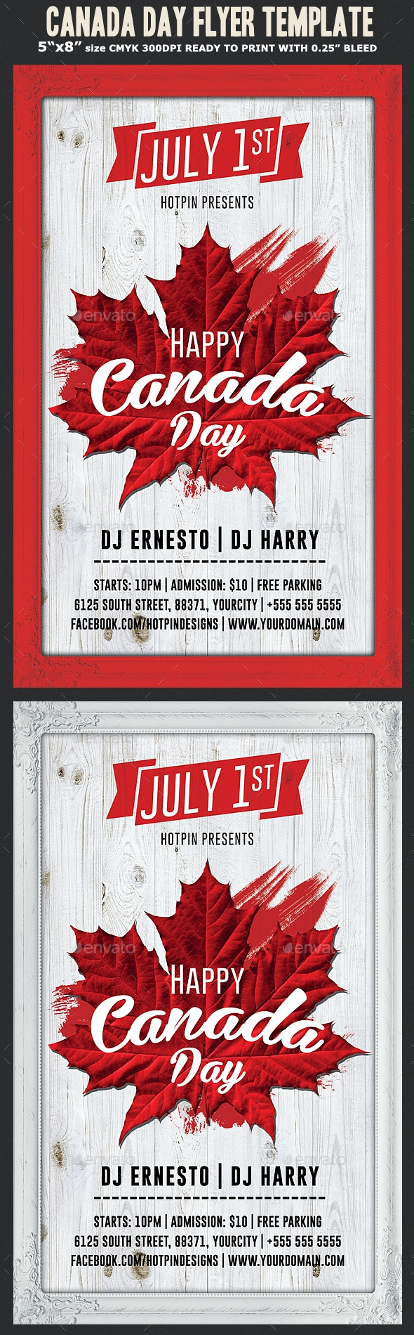 Canada Day Flyer Template - Holidays Events