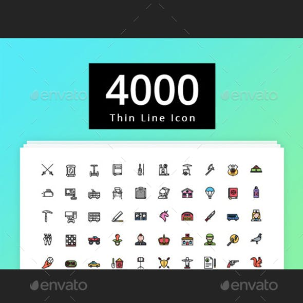 4000 Thin Line Icon - 2 Style