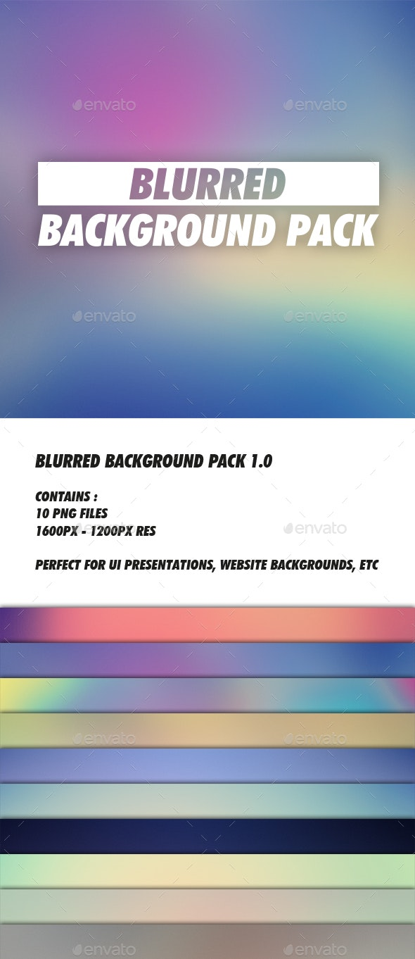 Blurred Background Pack 1.0 - Abstract Backgrounds