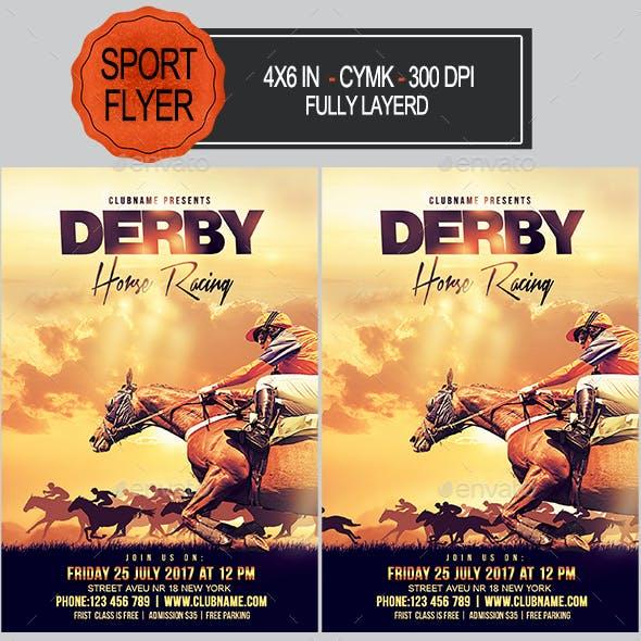 Derby Horse Racing Flyer