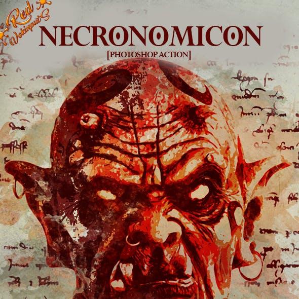 Necronomicon Photoshop Action
