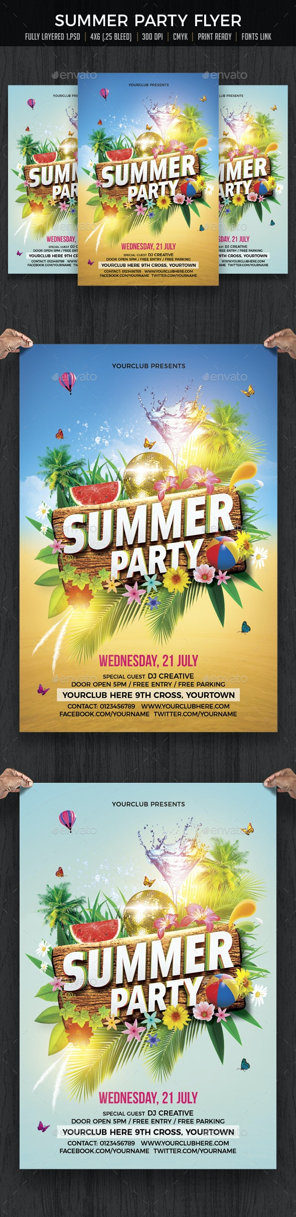 Summer Party / Summer Beach Party - Clubs & Parties Events