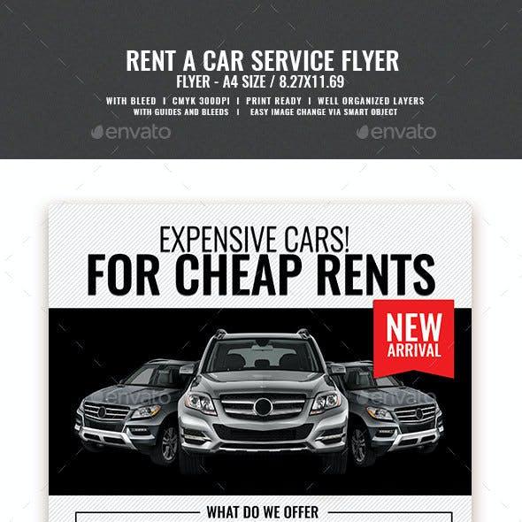 Car Rental and Dealership Flyer