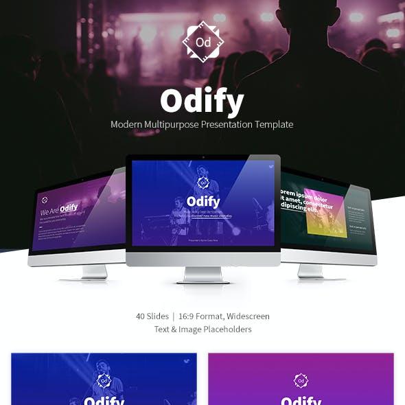 Odify Presentation Template