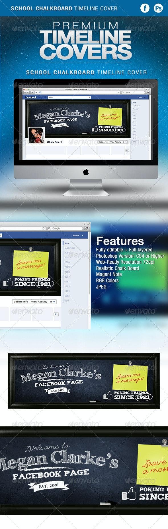School Chalkboard Facebook Timeline Cover - Facebook Timeline Covers Social Media