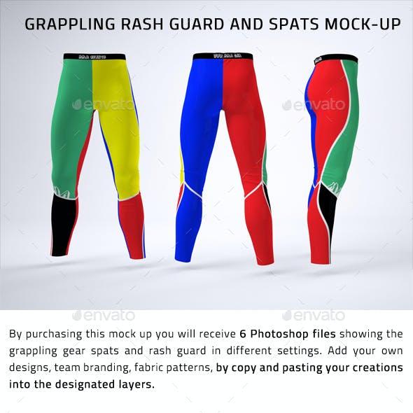 Grappling Rash Guard and Spats Mock-Up