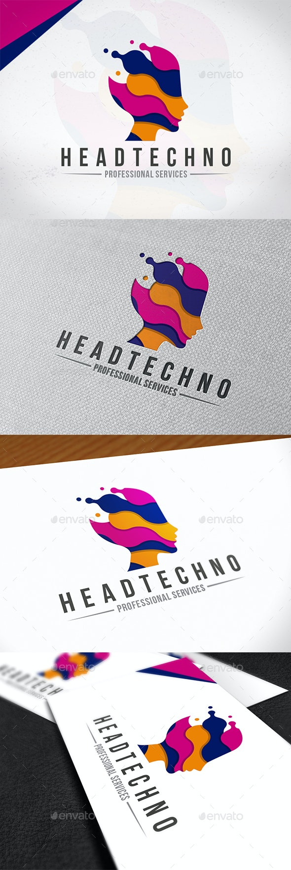 Technology Head Logo Template - Humans Logo Templates