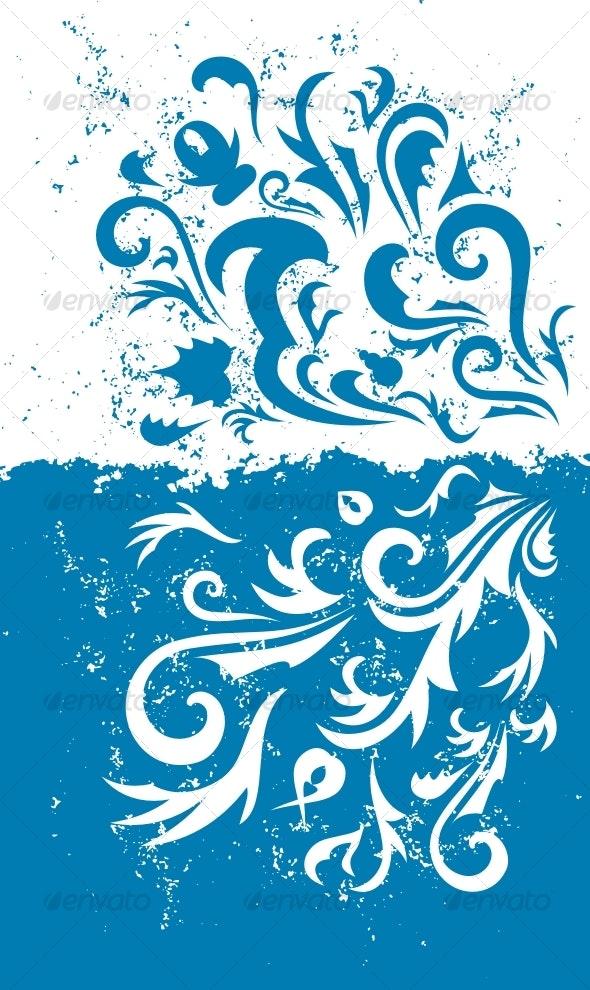 Grunge blue background - Backgrounds Decorative