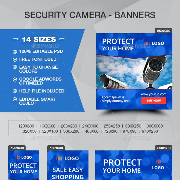 Security Camera Banners