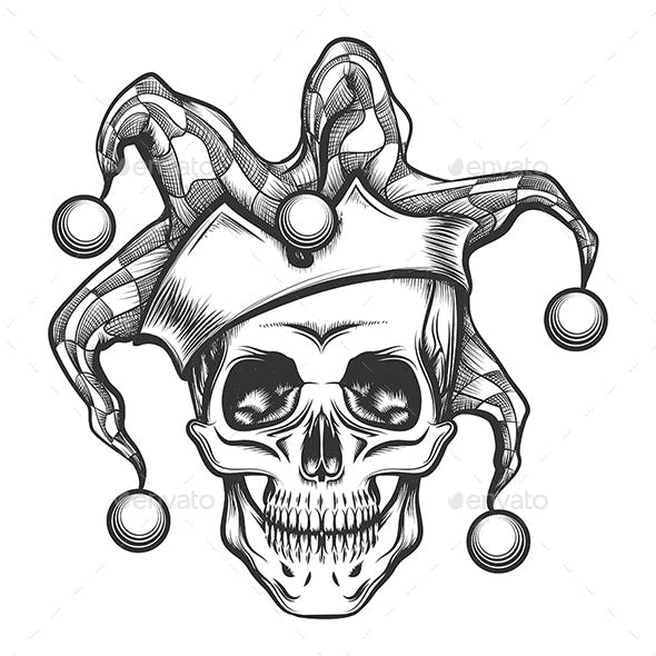 The Skull in Joker Cap