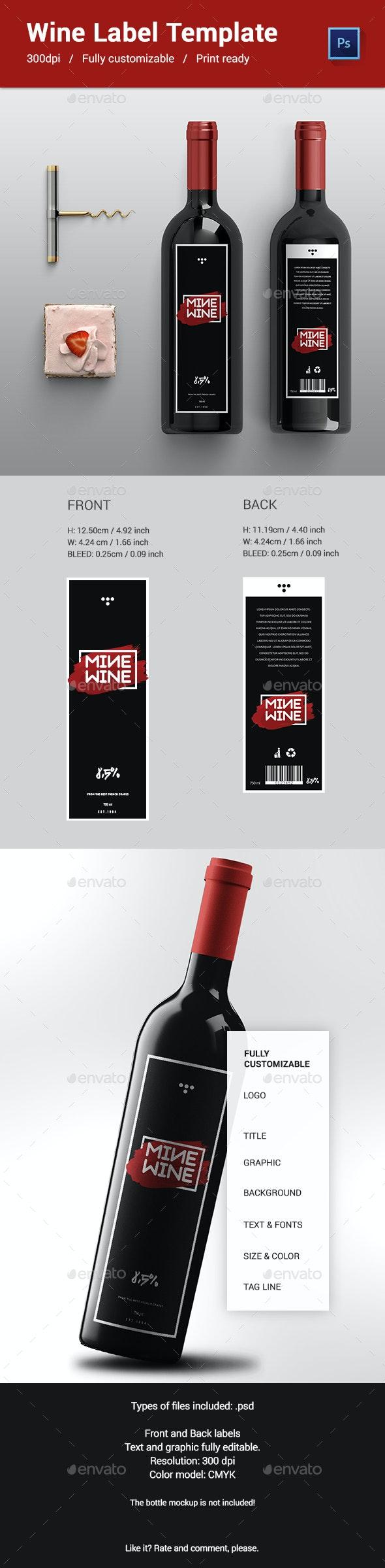 Mine Wine Label Template