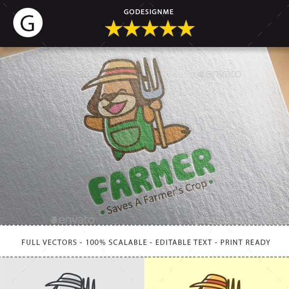 Happy Farmer Logo Design