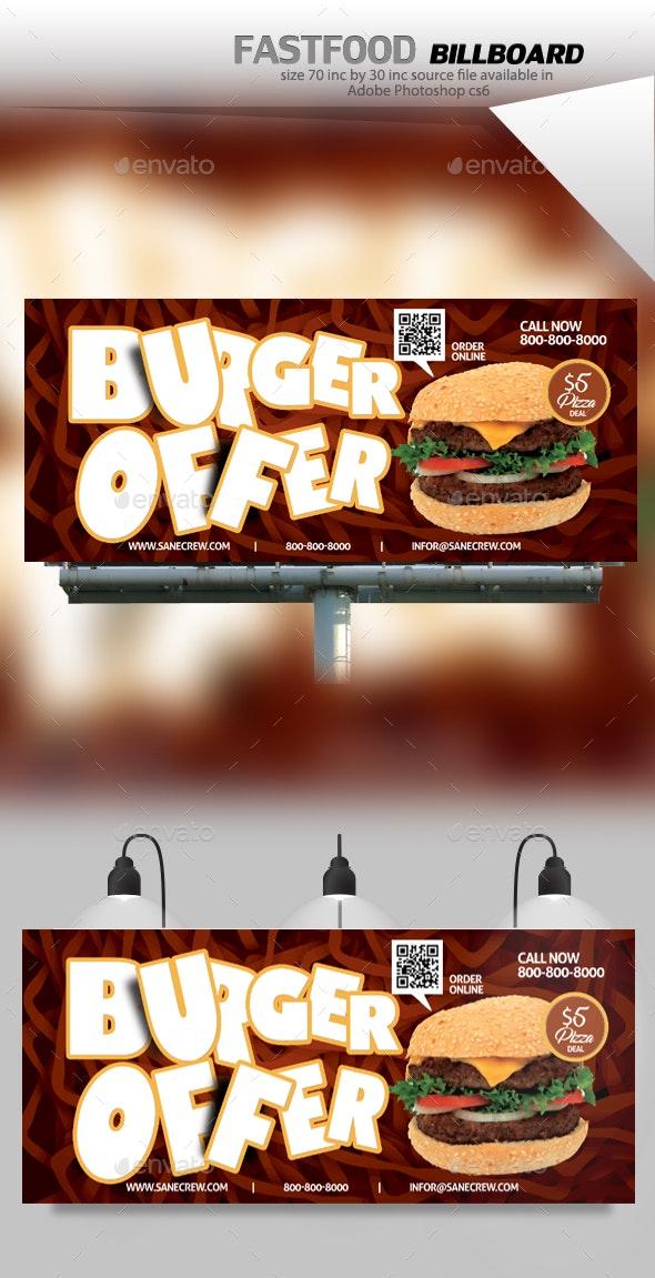 Restaurant Fast Food Billboard - Signage Print Templates