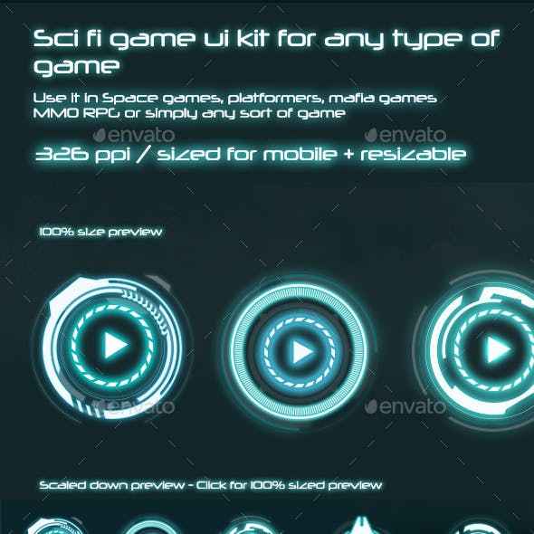 Sci-Fi UI Components Pack