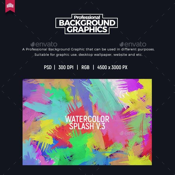 Watercolor Splash V.3 - Background