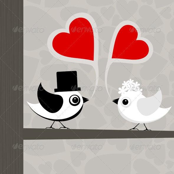 Bird of love - Animals Characters