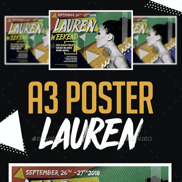 A3 Lauren Poster Art Template