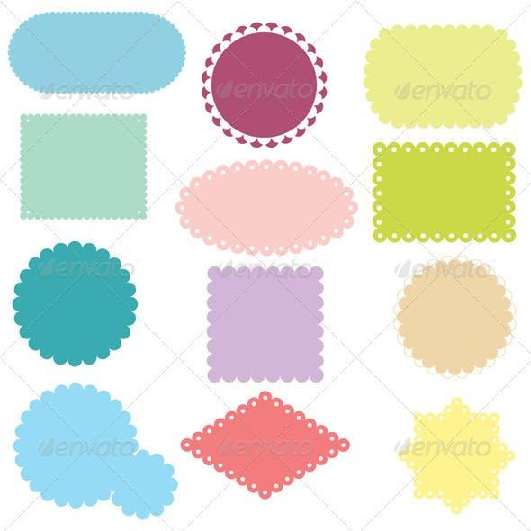 Colorful Labels Set