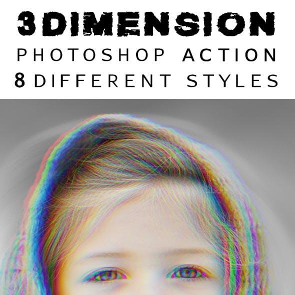 3Dimension - Photoshop Action