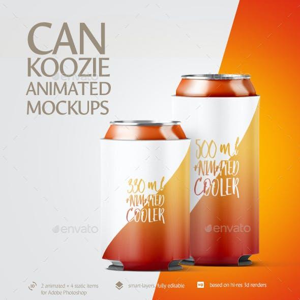 Can Koozie Animated Mockup