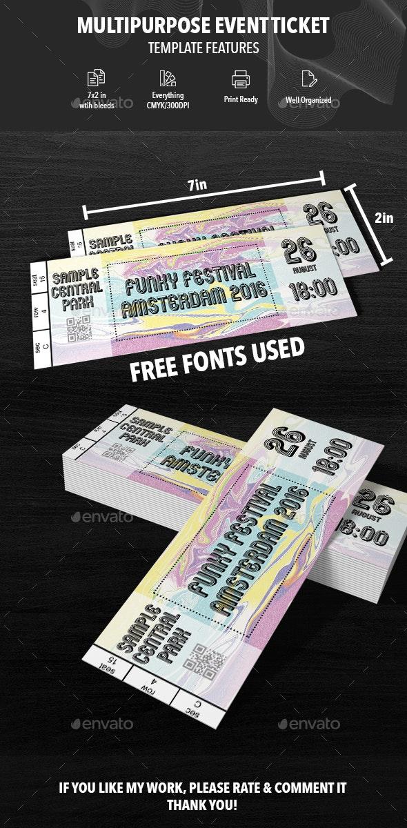 Multipurpose Event Ticket - Print Templates