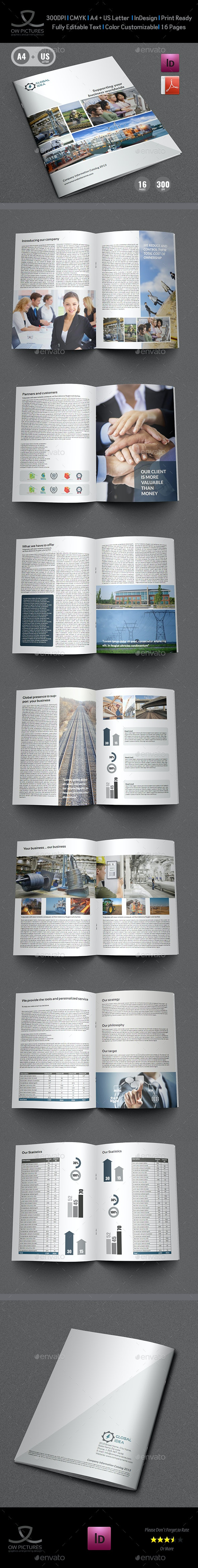 Company Profile Brochure Template Vol.5 -16 Pages - Corporate Brochures