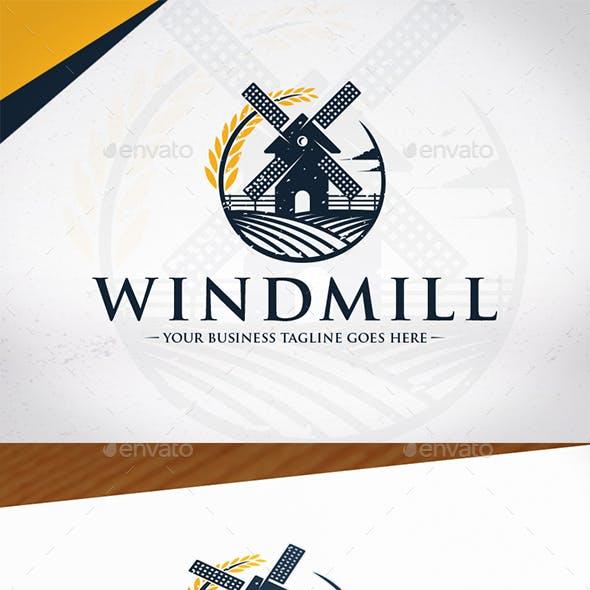 Wind Mill Logo Template