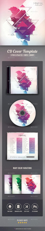 Minimal CD Cover Artwork - CD & DVD Artwork Print Templates