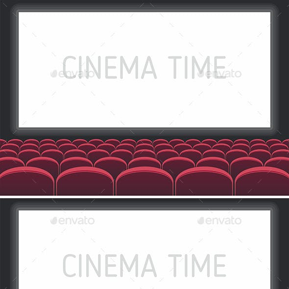 Red and Blue Cinema Theatre Seats