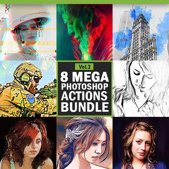 8 Mega Photoshop Actions Bundle - Vol.2