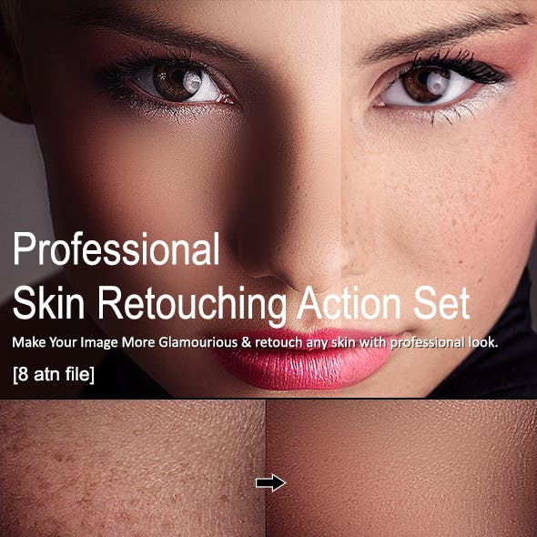 Skin Retouching Action Set [8 Action]