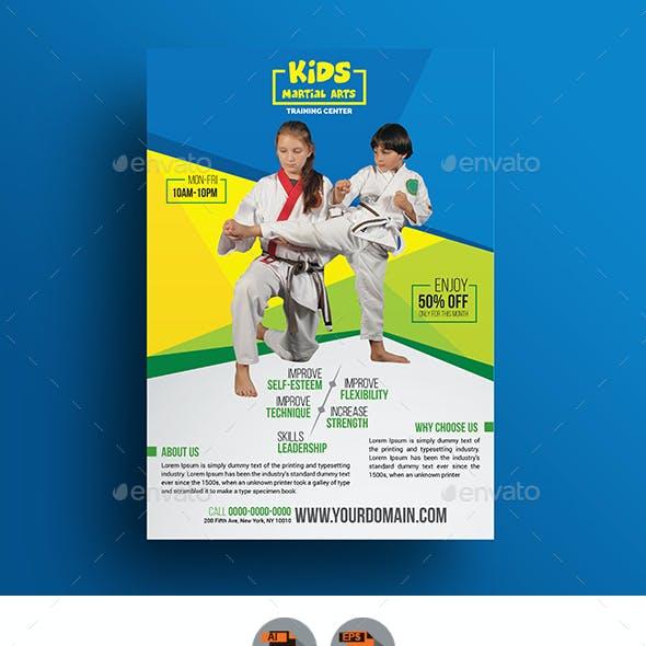 Kids Martial Arts Training Center Flyer