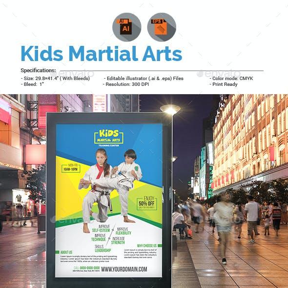 Kids Martial Arts Training Center Poster