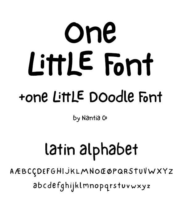 One Little Font - Hand-writing Script