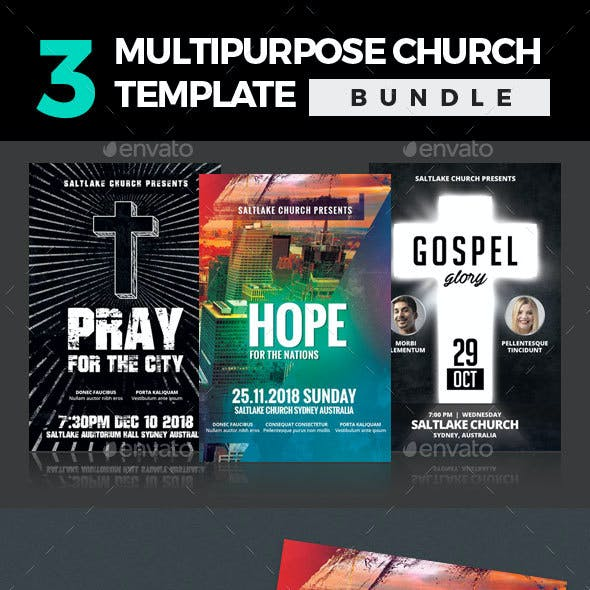 3 In 1 Multipurpose Church Template Bundle