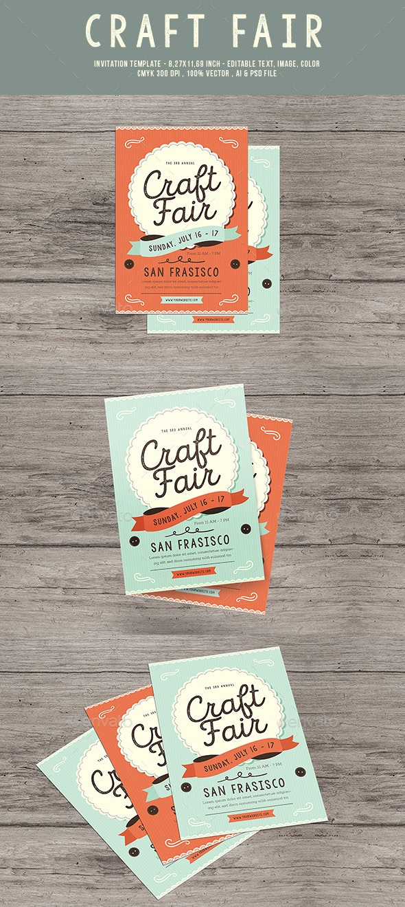 Craft Fair Event Flyer - Flyers Print Templates