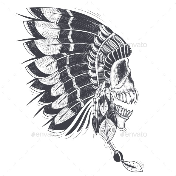 Vector Illustration of a Template for a Tattoo