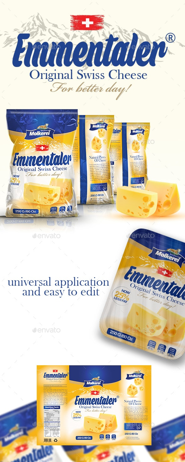 Cheese packaging Template - Packaging Print Templates
