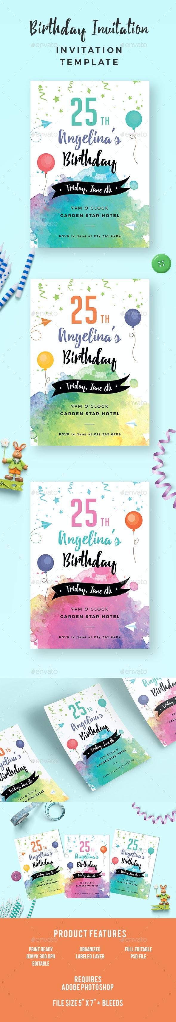 Birthday Invitation - Invitations Cards & Invites