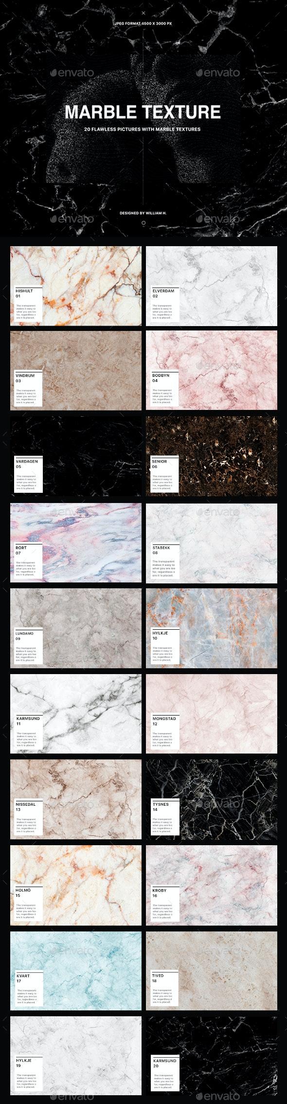 20 Marble Textures - Stone Textures