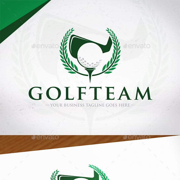 Golf Team Crest Logo