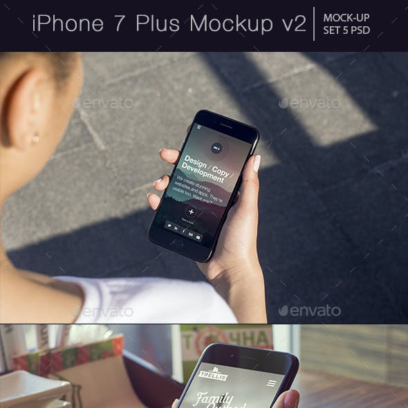 iPhone 7 Plus Mockup v2