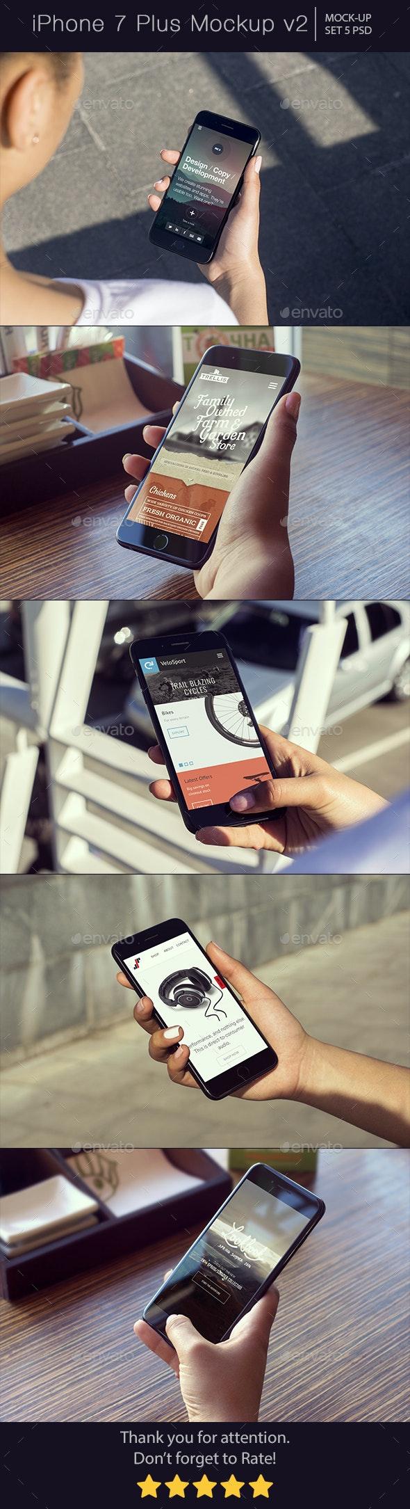 iPhone 7 Plus Mockup v2 - Mobile Displays