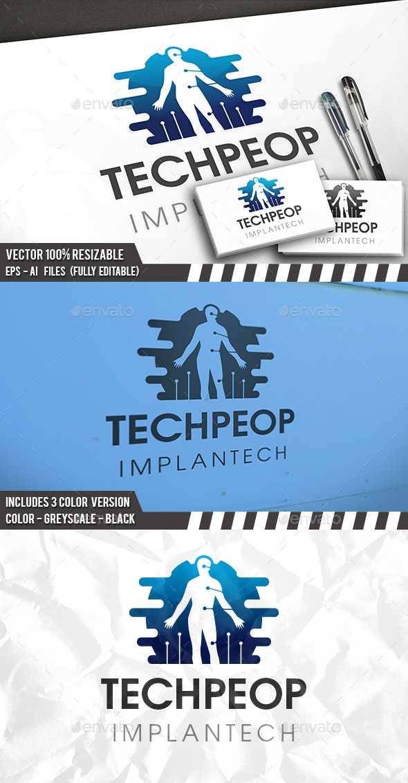 Human Technology Logo - Humans Logo Templates