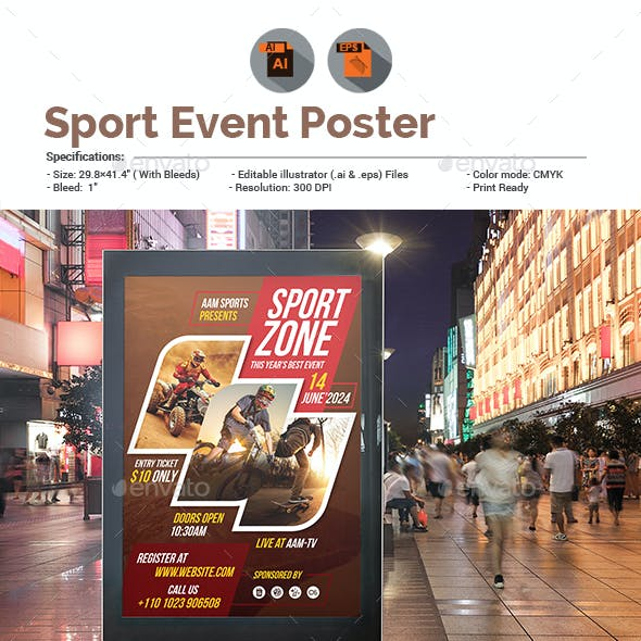 Sport Event Poster Template