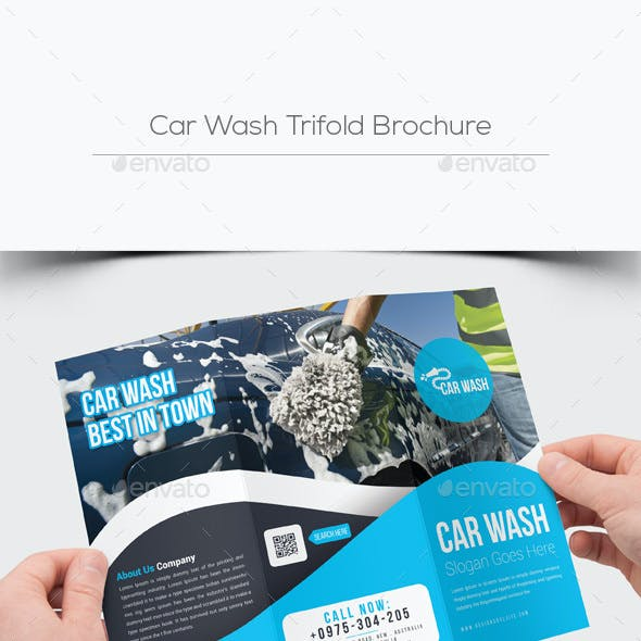 Car Wash Trifold Brochure